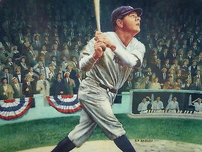 """Babe Ruth Limited Edition Of """"the Called Shot"""" Collectors Plate"""
