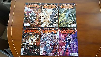 Secret Wars #1,2,3,4,5,6,7,8,9 - Complete Marvel Series