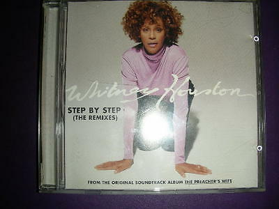 RARE  Whitney Houston Step By Step (The Remixes) CD 1997 ARISTA