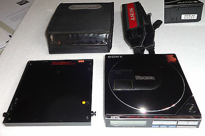 CD Player SONY Discman D-7 + Sony BP-200 Battery + Case +Strap Vintage D-50 MKII