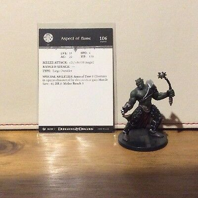 D&D Miniatures - Archfiends - Aspect Of Bane #28 - Rare - With Card