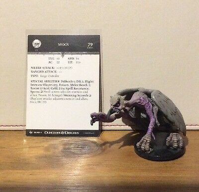 D&D Miniatures - Archfiends - Vrock #58 - Rare - With Card