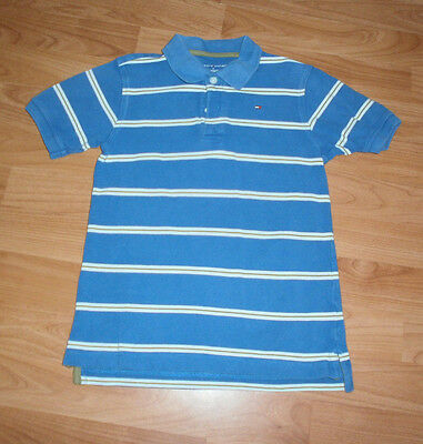 Tommy Hilfiger Boys Polo Shirt Blue Size Age 6
