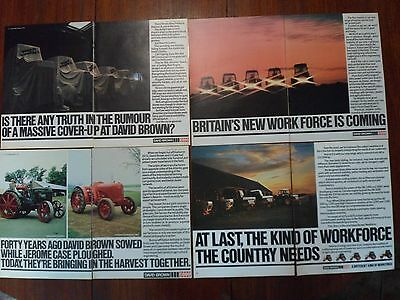 4x David Brown/Case Tractor Adverts Free UK Post Not Brochure/Leaflet 1979