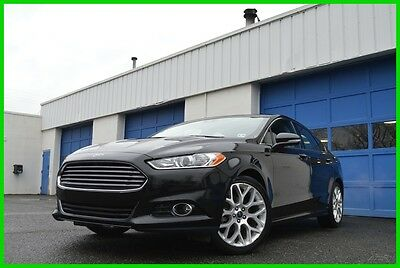 2014 Ford Fusion Titanium 2.0L Turbo Ecoboost Warranty Loaded Save Leather heated Seats Navigation Rear Cam Blind Spot Monitor Sync Sony Audio More