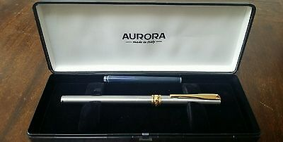 Aurora A10 Made in Italy Silver & Gold Fountain Pen Vintage