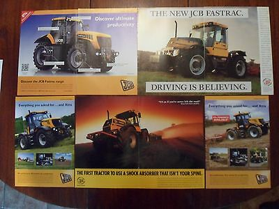 5x JCB Fastrac Tractor Adverts Free UK Post Not Brochure/Leaflet 1991-2012