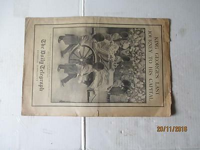 The Daily Telegraph Jan 24 1936 Pictorial Supplement-King George's Funeral.