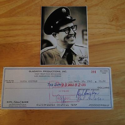 """Phil """"bilko"""" Silvers  Hand Signed Personal Cheque"""