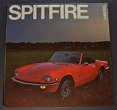 1972 Triumph Spitfire Catalog Sales Brochure Excellent Original 72