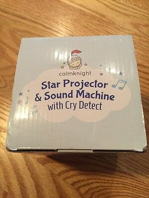Calmknight Star Projector And Sound Machine With Cry Detect