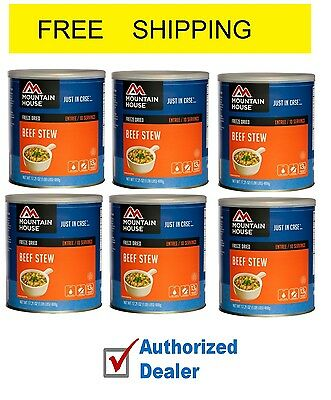 Mountain House Beef Stew #10 Can Freeze Dried Food - 6 CANS