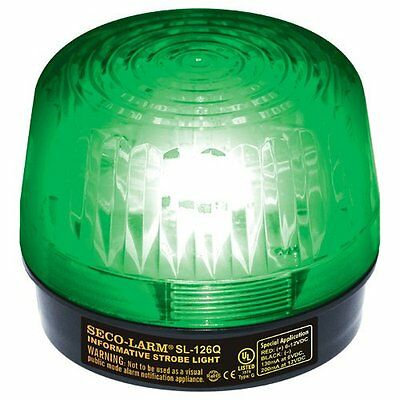 Seco-Larm SL-126Q/G 12VDC Strobe Light, Green