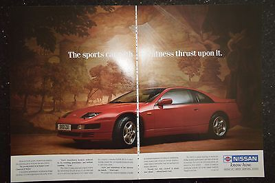 Nissan 300ZX 3.0 Turbo Coupe 1993 Original A3 Size Advertisement