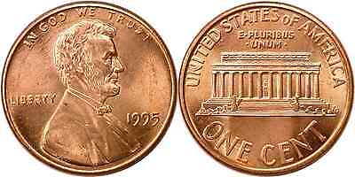 1995 1C Lincoln Cent Double Die Obverse FS-040 Uncirculated