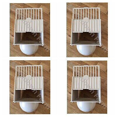 10 x PLASTIC NEST PAN BOX HANGS ON OUTSIDE OF CAGE IDEAL FOR CANARIES /FINCHES