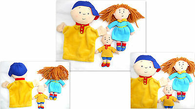 3 Caillou Toy Doll & Hand Puppet Plush Collectible Tv Caillou Cinar Character