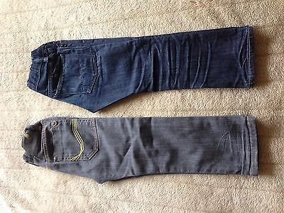 2 Pairs Of Boys Jeans, Size 4 Years