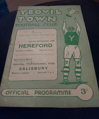 yeovil town v worcester 1955 football programme good condition