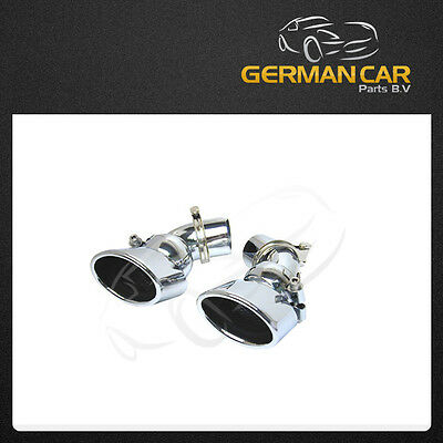 Exhaust Tips Muffler Tail Pipe 2X1 Set Amg Sport For Mercedes W211