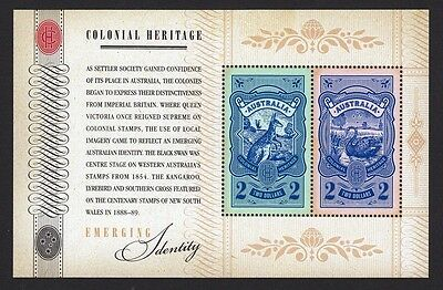2011 Australian Decimal Stamps - Colonial Heritage - Emerging Identity MNH M/S