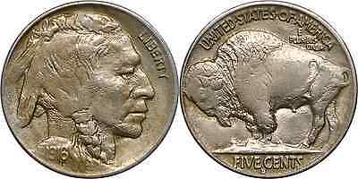 1916-D 5C Buffalo Nickel Almost Uncirculated