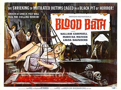 """Blood Bath 16"""" x 12"""" Reproduction Movie Poster Photograph"""
