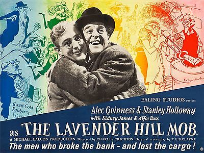 """The Lavender Hill Mob 16"""" x 12"""" Reproduction Movie Poster Photograph"""