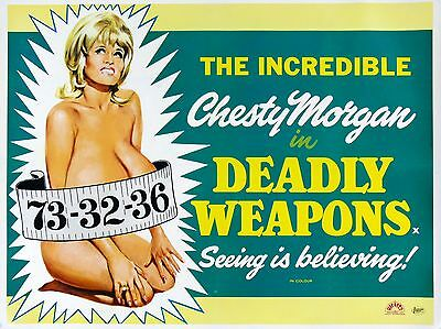 """Deadly Weapons 16"""" x 12"""" Reproduction Movie Poster Photograph"""