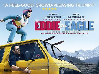 """Eddie the Eagle 16"""" x 12"""" Reproduction Movie Poster Photograph"""