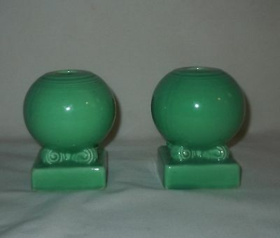 VINTAGE FIESTA BULB TYPE CANDLE HOLDERS ORIGINAL Light GREEN ****FREE SHIP****