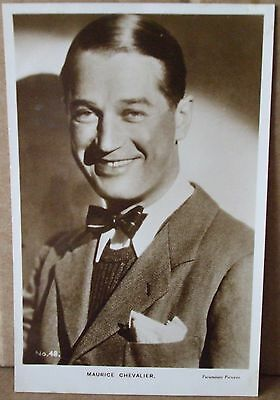 Old Real Photo Film Star Postcard - Maurice Chevalier