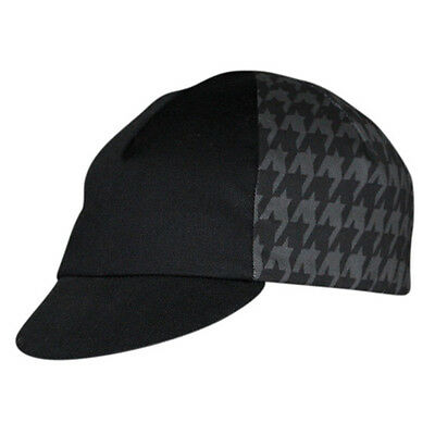Pace Sportswear Cycling Cap Houndstooth Grey Black Road Track Fixed Gear