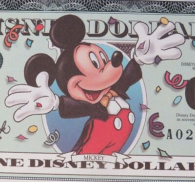 2000 A MICKEY MILLENNIUM DISNEY DOLLAR  MINT MINT MINT out of pack w/envelope