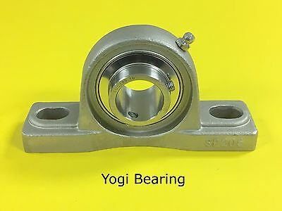 "1"" Stainless Steel Pillow Block Bearing SUCSP205-16 - Solid Base"