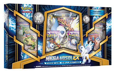Pokemon Cards: Mega Absol Ex Premium Collection Box: 6 Boosters, Promo + More