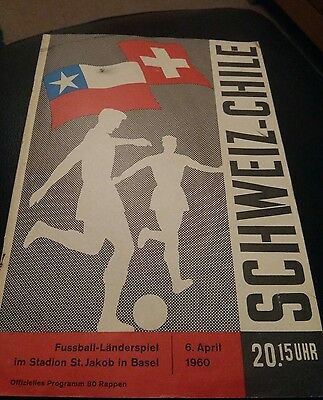switzerland v chile 1960 international rare
