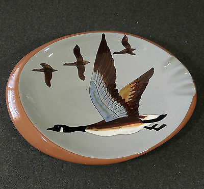 Stangl Art Pottery Trenton NJ Canadian Goose Geese Hand Painted Ashtray EUC