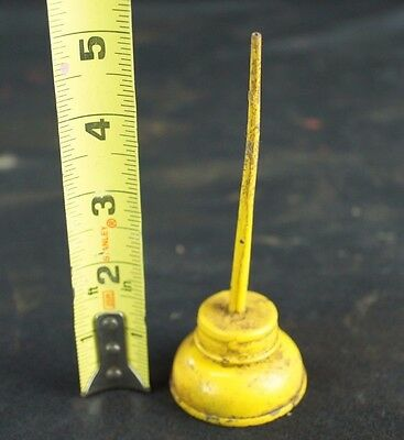 Vintage Antique Cute & Tiny Sewing Machine Bright Yellow Thumb Oiler Oil Can