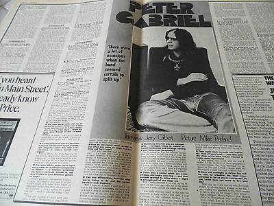 Peter Gabriel Of Genesis 1972 Interview Double Page