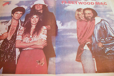 Fleetwood Mac 1979 Double Page Magazine Poster A2