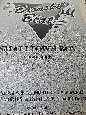 """Bronski Beat """"small Town Boy"""" Advert  From 1984 With Gig Venues"""
