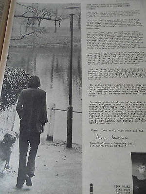 "Nick Drake 1972 Album Advert ""pink Moon"" Very Unique Full Page A3 Size"