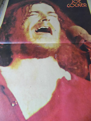 Joe Cocker Double Page Magazine Poster  From 1972 Genuine ..a2 Size