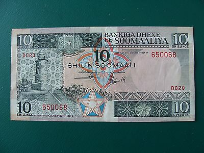 Somalia 10 Shillings 1987 Lot#4  Au