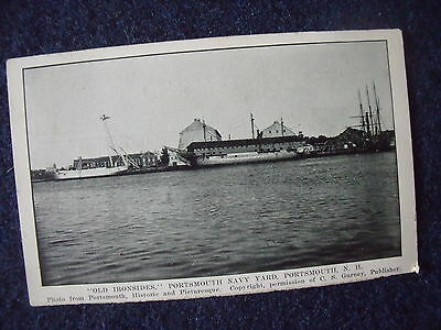 """Portsmouth NH USA Navy Dockyard """"Old Ironsides"""" USS Constitution early 20th c"""