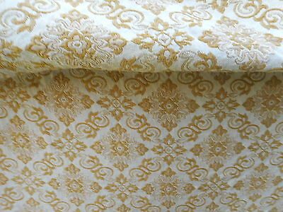 Vintage bedspread  - gold brocade fabric double bed