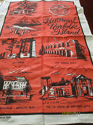 Linen/cotton Tea Towel - Historical Norfolk Island