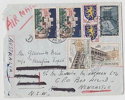 1961 re-directed airmail cover to Australia ST125