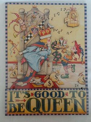 Mary Engelbreit Good To Be Queen Cards to Keep Stand Up 3-D Plaque Sunrise NIP